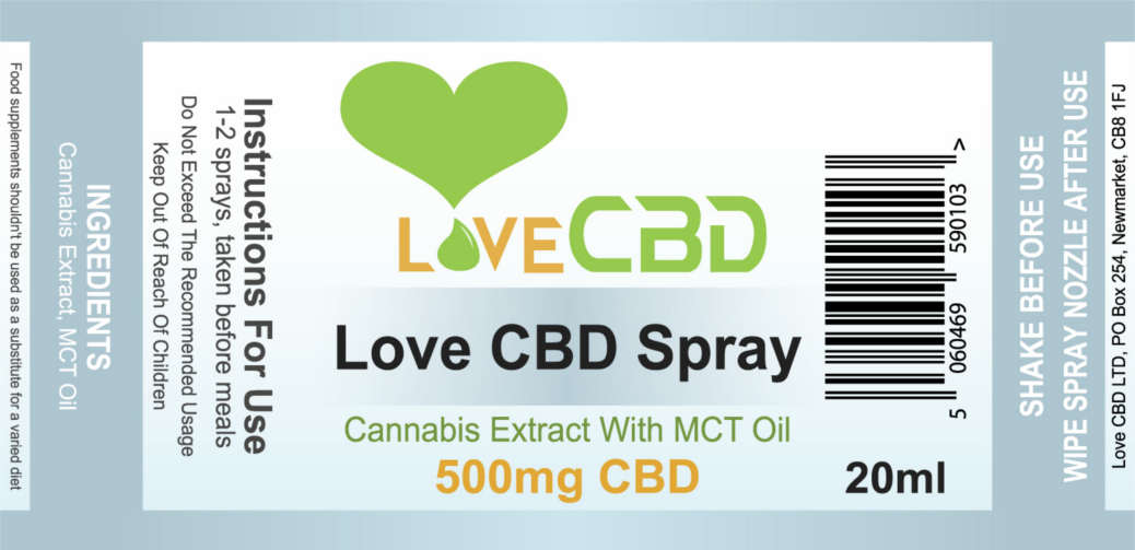 500mg cbd label