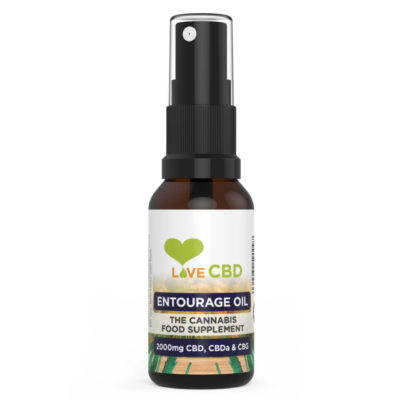 2000mg Entourage CBD Bottle