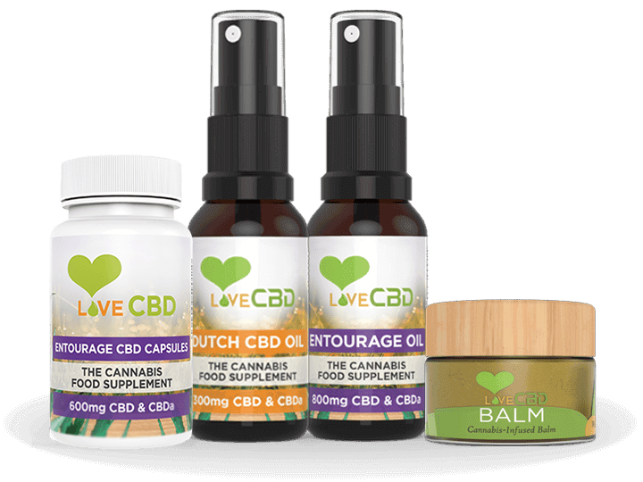 Love CBD Oil Product Range
