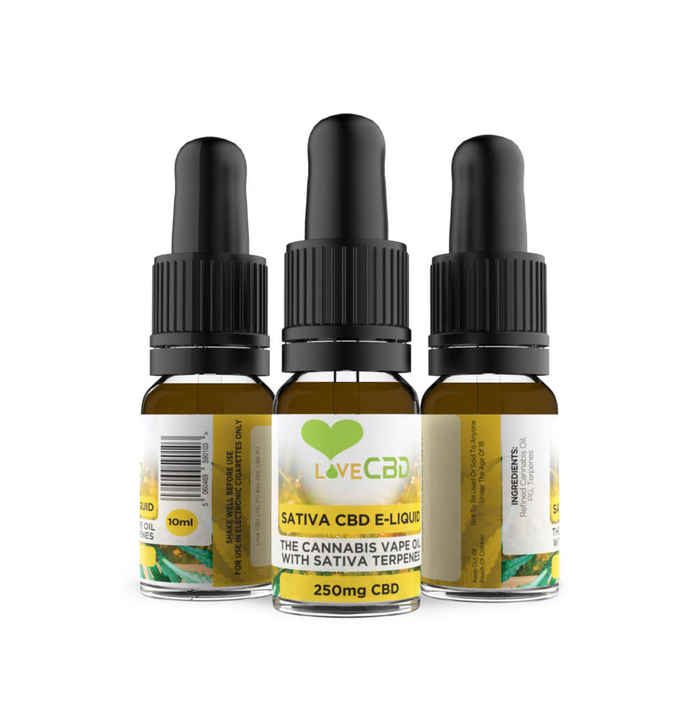 sativa eliquid 3 bottles