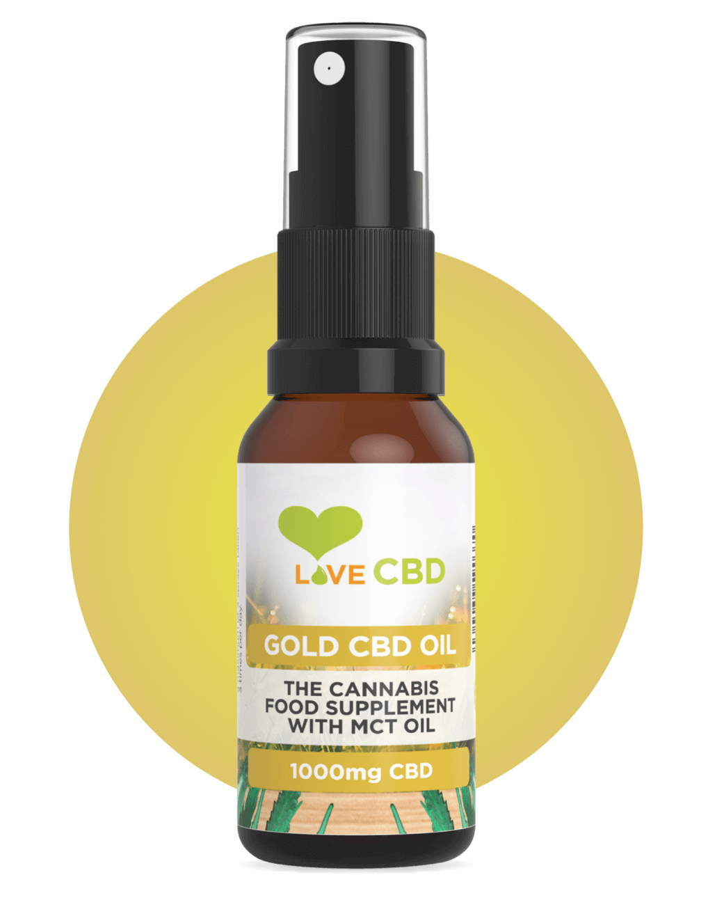 gold cbd oil circle
