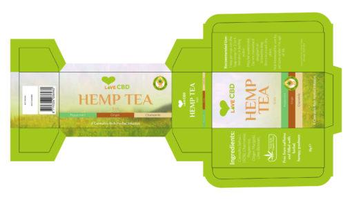 hemp tea box design